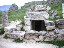 Hieropolis Ruins in Pamukkale Turkey Royalty Free Stock Images