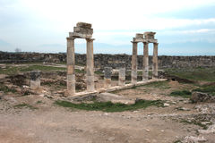 Hieropolis Ruins in Pamukkale Turkey Royalty Free Stock Photo