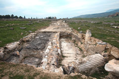 Hieropolis Ruins in Pamukkale Turkey Stock Photo