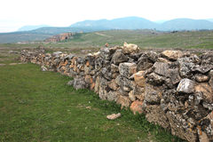 Hieropolis Ruins in Pamukkale Turkey Stock Photo
