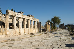 Hieropolis Ruins in Pammukale Turkey Stock Images