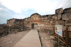 Hieropolis Ruins in Pamukkale Turkey Stock Image