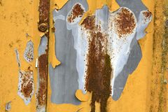 Hierro de hoja acanalado anaranjado viejo Imagen de archivo