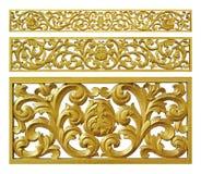 Hierro de la decoración del oro floral Fotografía de archivo