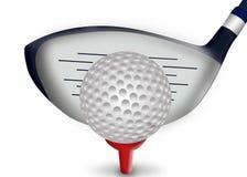 Hierro del golf y pelota de golf Foto de archivo libre de regalías