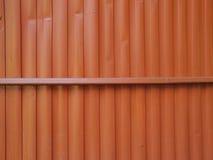 Hierro galvanizado naranja Fotografía de archivo