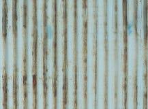 Hierro galvanizado oxidado y anticuado foto de archivo libre de regalías