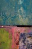 Hierro oxidado coloreado Fotografía de archivo libre de regalías