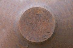 hierro oxidado en el fondo blanco Imagen de archivo