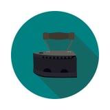 Hierro plano del carbón del icono Fotos de archivo