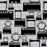 Hierro retro del ejemplo inconsútil en gris Imágenes de archivo libres de regalías