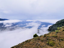 Hierro. Sea of Clouds in Hierro, Canary Islands, Spain stock photography