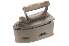 Hierro viejo del carbón aislado en blanco Foto de archivo libre de regalías