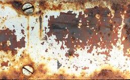 Hierro y pintura aherrumbrados viejos de la peladura Imágenes de archivo libres de regalías
