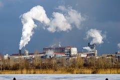 Hierro y planta metalúrgica de acero Foto de archivo libre de regalías
