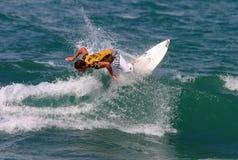Hierros de Andrés de la persona que practica surf del campeón del mundo Imagen de archivo