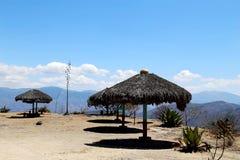 Hierve el阿瓜,瓦哈卡,墨西哥 库存图片