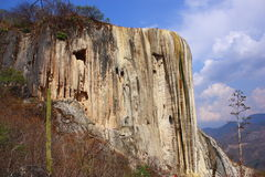 Hierve el agua. Great petrified waterfall known as hierve el agua located near the city of oaxaca, mexico Stock Photo