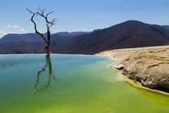 Hierve EL-Agua bedeutet kochendes Wasser Es ist ein geologisches Gebirgsmassiv in Oaxaca, Mexiko stockfotografie