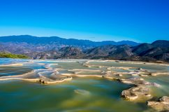 Hierve el Agua in the Central Valleys of Oaxaca. Mexico. Hierve el Agua, thermal spring in the Central Valleys of Oaxaca, Mexico Royalty Free Stock Photos