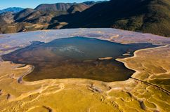 Hierve el Agua in the Central Valleys of Oaxaca. Mexico. Hierve el Agua, thermal spring in the Central Valleys of Oaxaca, Mexico Royalty Free Stock Photography