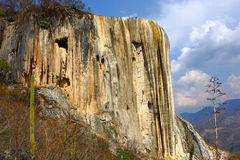 Hierve el Agua, förstenad vattenfall i Oaxaca VIII royaltyfri foto