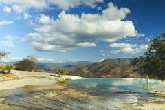 Hierve el agua i det oaxaca tillståndet, mexico Royaltyfri Fotografi