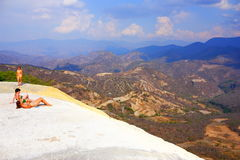 Hierve el agua landscape I Royalty Free Stock Photo