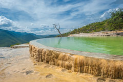 Free Hierve El Agua, Natural Rock Formations In The Mexican State Of Royalty Free Stock Images - 35551339