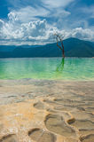 Hierve el Agua, natural rock formations in the Mexican state of royalty free stock image