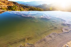 Hierve el Agua. Natural rock formations in the Mexican state of Oaxaca Royalty Free Stock Photo