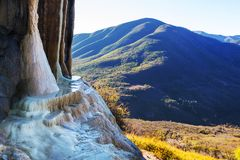 Hierve el Agua. Natural rock formations in the Mexican state of Oaxaca royalty free stock image