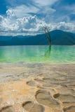 Hierve el Agua, naturalne rockowe formacje w Meksykańskim stanie Obraz Royalty Free