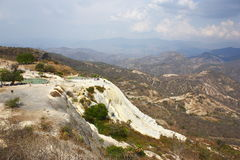 Hierve el agua panoramic III Stock Photography