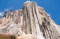 Hierve el Agua, Petrified Waterfall in Oaxaca Stock Images