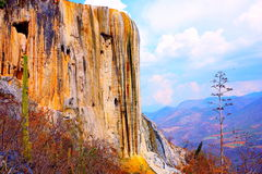 Hierve el Agua, Petrified Waterfall in Oaxaca V. Great and unique petrified waterfall known as hierve el agua located near the city of oaxaca, mexico royalty free stock photo