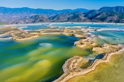 Hierve el Agua in the Central Valleys of Oaxaca. Mexico. Hierve el Agua, thermal spring in the Central Valleys of Oaxaca, Mexico Stock Photos
