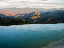 Hierve el Agua, Oaxaca, Mexico. View at sunset of Hierve el Agua, Mexico Royalty Free Stock Photography