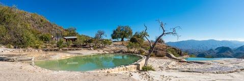 Hierve el Agua w Środkowych dolinach Oaxaca Meksyk Obraz Royalty Free