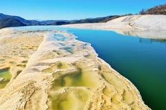 Hierve el Agua w Środkowych dolinach Oaxaca Meksyk Obrazy Stock
