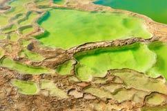 Hierve el Agua w Środkowych dolinach Oaxaca Meksyk Zdjęcie Stock