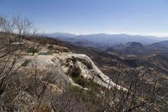 Hierve Gr Agua betekent kokend water Het is een geologisch massief in Oaxaca, Mexico royalty-vrije stock afbeeldingen