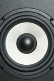 Hifi. The subwoofer photographed close up at a short distance Royalty Free Stock Image