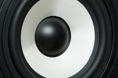 Hifi. The subwoofer photographed close up at a short distance Stock Images