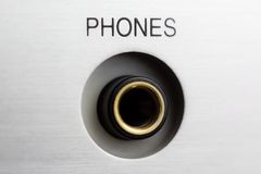 HiFi amplifier phones socket Stock Photography