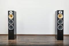 Hifi- högtalarepar royaltyfria foton