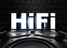 HiFi (High Fidelity) with loudspeaker Royalty Free Stock Photos