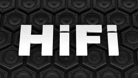 HiFi (High Fidelity) with loudspeaker Royalty Free Stock Image
