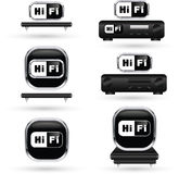 HiFi icons Stock Photo