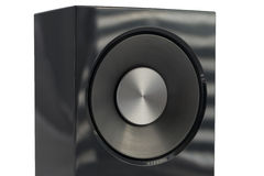 Hifi- ljudsignalt slut för högtalare som isoleras upp Royaltyfri Foto